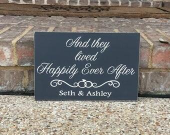 Engagment Gift ~ Wedding Aisle Sign ~ Happily Ever After ~ And They Lived Happily Ever After Wedding Chair Sign ~ Flower Girl ~ Ring Bearer