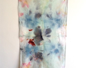 Hand Dyed Abstract Art Tea Towel