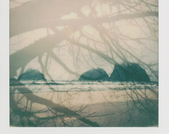 Oceanside Oregon Coast Instant Photography - Decorate with a vintage feel - Free Domestic Shipping