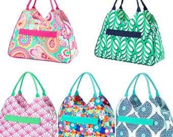 Large Beach Bag Summer Patterns Tote