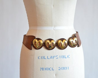Vintage made in ITALY 'heart' belt