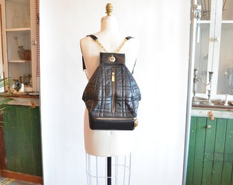 Vintage QUILTED leather statement backpack