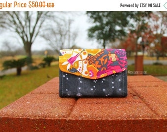 Art Theory Butterfly and Police Box Mini Necessary Clutch Wallet (NCW) with multiple interior pocket and card slots