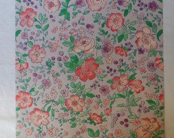 Vintage Floral Wrapping paper Vintage floral gift wrap vintage flower paper