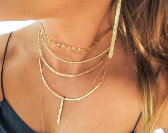 Gold Choker Necklace - Gold Filled Choker Wrap - Simple Gold Chain Gold Fill Wrap Necklace - Double Wrap Choker - Gold Triple Strand Choker