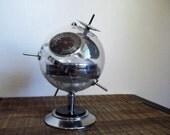 Mid Century West Germany Chrome Sputnik Weather Station
