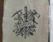 Survive handprinted patch