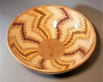 Segmented Wood Bowl  B-288