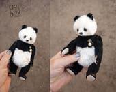Karma, Mohair Panda Artist Teddy Bear from Aerlinn Bears