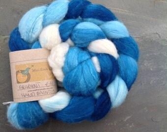 GRADIENT - Handpainted Merino Silk Roving 150g/5.29oz