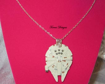 Star Wars Millennium Falcon Necklace Custom made by TorresDesigns - Ready To Ship