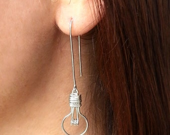 Light Bulb Earrings - Unique Gifts for Her, Lightbulb Earrings, Nerd Jewelry, Gifts for Her