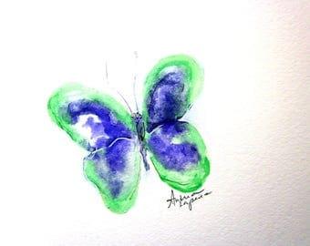 Butterfly Print, Nursery, Nursery Art, Butterfly, Purple and Green Butterfly, Childs Room, Wall Decor, Butterfly, Butterflies,