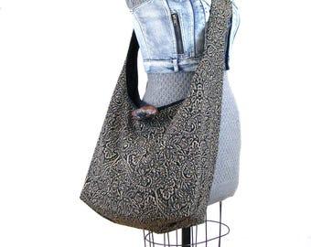 Crossbody Hobo Bag - Vegan Bag - Over Shoulder Bag - Hippie Bag - Large Crossbody Bag for Women - Boho Bag - Crossbody Travel Bag