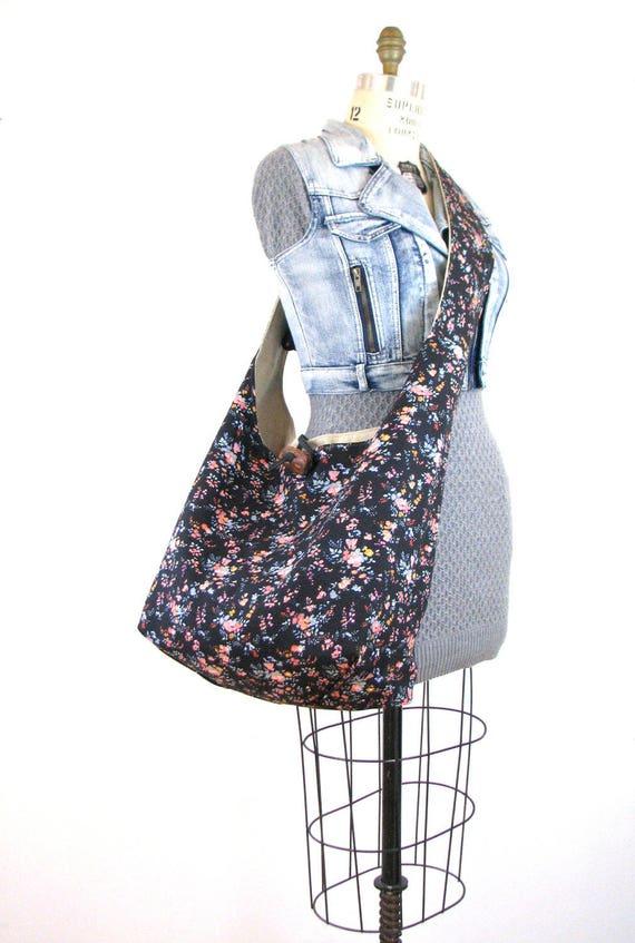 Large Crossbody Bag - Vegan Bag for Women - Crossbody Hobo Bag - Extra Large Tote Bag - Slouch Bag - Hippie Bag - Cross Shoulder Bag