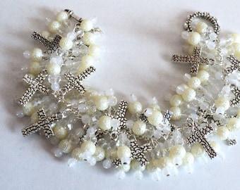 Charm Bracelet, Religious Bracelet, Religious Jewelry, Cross Bracelet, Religious Accessories, Wedding Bracelet - KEEP THE FAITH