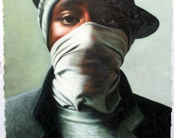 Mos Def hip hop oil painting on canvas, 20x30 inch large wall art