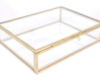 Rectangular Glass Box, Destash, Seconds, Glass Box, Jewellery Box, Jewelry Box, Glass Jewellery Box, Glass Jewelry Box, Keepsake Box