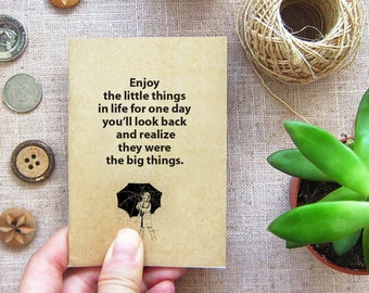 Small Gift Notebook 51. Small Things in Life - Mini Travel Pocket Notebook - Enjoy the Little Things in Life