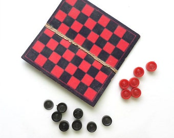 My Merry Dolly's Checkerboard and Checkers, Miniature Game