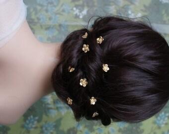 Wedding Hair Pins- Bridal Hair Pin Set with Roses and leaves - Bridal Headpiece with Roses - Wedding hair accessory - Bridal Hair Jewellery