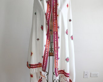 Indian Shawl Embroidered Scarf