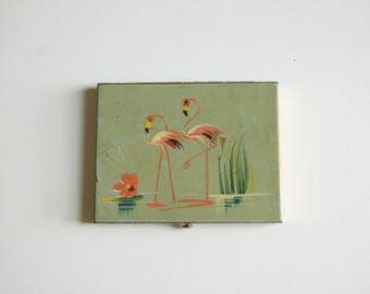 Flamingo Brass Cigarette Case