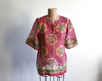 SALE Sheer Indian Cotton Blouse