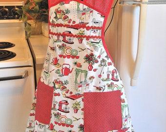 Women's Retro Style Kitsch Apron