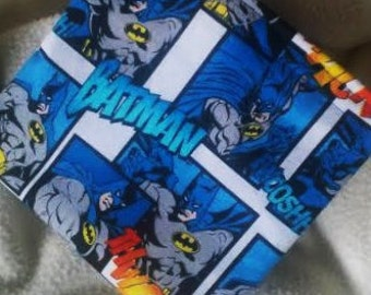 "Eco Friendly Bag, Reusable Snack Bag, Reusable Sandwich Bag, Travel Bag, Organizer, Party Favor, Teacher Gift ""Batman Adventures"""