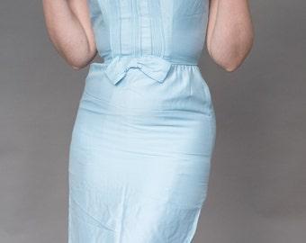 50s wiggle dress / Baby blue / Small XS