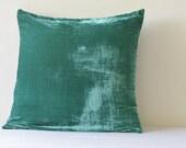 Teal Velvet Pillow , Teal Velvet Cushion Cover , Teal Decor Pillow , Green Velvet Throw Pillow , Housewares , Teal Velvet Cushion