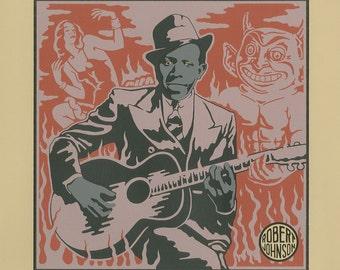 Robert Johnson (Me And The Devil Blues Print)