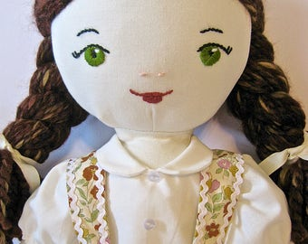 "Vintage Inspired Classic Heirloom 20"" Soft Cotton Rag Doll"