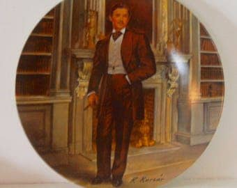 Rhett Butler Collector's Plate 1980's Excellent Condition