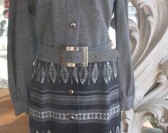 Vintage 1970s Wool Knit Dress