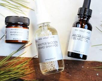 Gifts for Men | Men's Grooming Set | Beard Set | Beard Oil, Beard Shampoo, Beard Balm | 100% natural and vegan beard set | THE BEEFCAKE