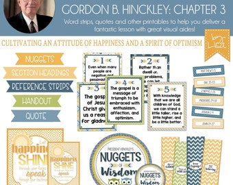 Relief Society Lesson Helps, Gordon B. Hinckley Lesson #3, RS Lesson Aides - Teachings of the Presidents of the Church, PRINTABLE Download