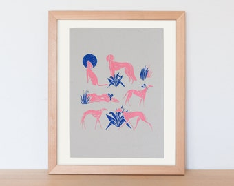 original screen print poster / screen print art / animal print