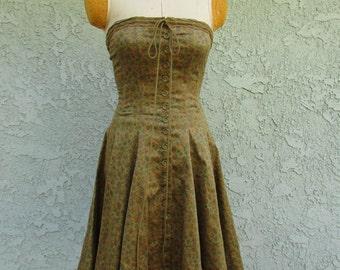 1990s betsey johnson corseted dress