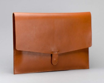 Custom Document Case, Mens Tablet Case, Leather iPad Folio, Electronics Folio, Men Leather Clutch, Slim Leather Case, Best Man Leather Folio