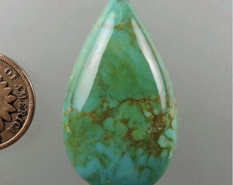 KingmanTurquoise Cabochon, Turquoise Cabochon, Turquoise, Designer Cabochon, Jewelry Supplies, Craft Supplies, Gift Cab,C1986, 49erMinerals
