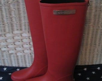 Poppy Red Riding Rain Boot - Alice Whittles, Never Worn