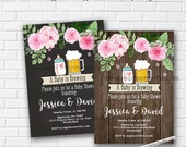 Baby shower bbq BabyQ Invitation , baby brewing invitation, BBQ chalkboard or wood background design Invitation, Baby Q  card 1013