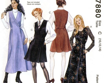 McCall's 7880 Sewing Pattern for Misses' Wrap Jumper - Uncut - Size 10, 12, 14