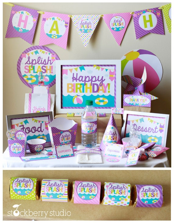 Girl Pool Party Birthday Decorations Beach Party Decorations