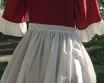 Ships Today  - Colonial,  Felicity, American Girl Costume -   Girls Sz  10