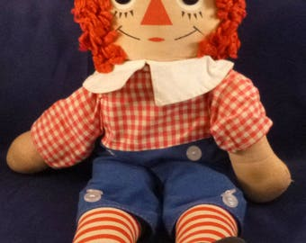"""Vintage Raggedy Andy Doll (15""""), 1970s"""