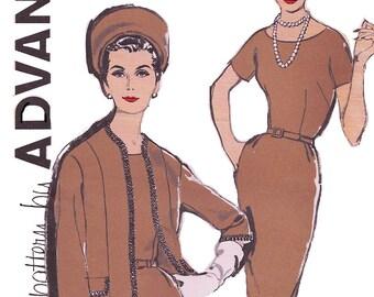 Advance 9632 Women's 60s Half Size Sheath Dress and Jacket Sewing Pattern Size 18 1/2 Bust 39