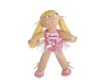 "Personalized 18"" Amelia Big Sister Ballerina Doll - Blonde"
